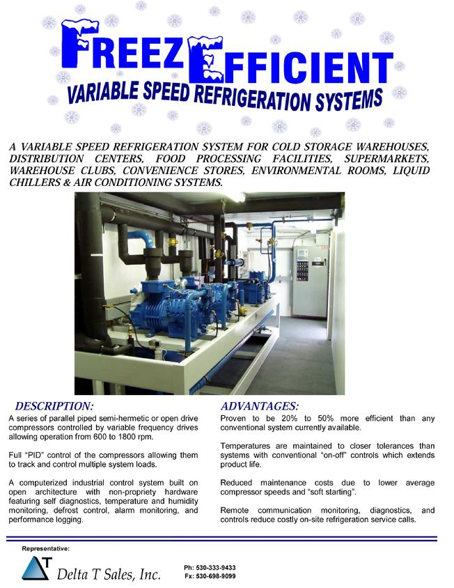 Variable Speed Rack Refrigeration Systems